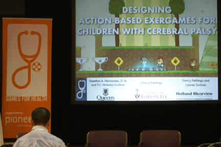 Designing Action Based Exercises for Children With Cerebral Palsy Opening Slide from 2013 Games for Health Conference presentation.